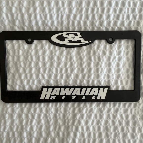 Hawaiian Style License Plate Cover